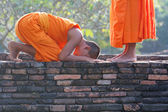 Young Buddhist monks — Stock Photo
