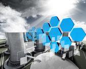 Industrial fotovoltaico — Foto de Stock