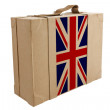 Nation Flag. Box recycled paper — Stockfoto