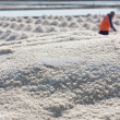 Salt texture with farmer — Stockfoto