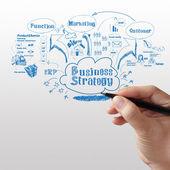 Geschäftsmann, die geschäftsstrategie zu schreiben — Stockfoto