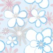 Original seamless floral pattern — Stock Vector