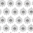 Seamless monochrome original pattern — Stock Vector