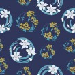 Seamless floral original pattern — Stockvektor