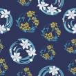Dikişsiz çiçek orijinal desen — Stok Vektör