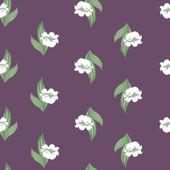 无缝花纹与山谷的百合花 — 图库矢量图片