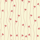 Original seamless pattern with hearts — Stock Vector