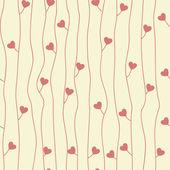 Patrón original sin fisuras con corazones — Vector de stock