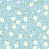 Seamless floral pattern with small daisies — Stock Vector