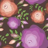 Original seamless floral pattern — Cтоковый вектор