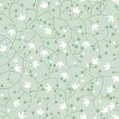 Seamless floral pattern with small lilies — Stock Vector