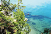 Sandy bottom of Lake Baikal — Stock Photo
