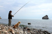 Fishing on Lake Baikal — Stock Photo