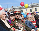 Veterans at the celebration of Victory — Stock Photo