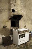 Old oven — Stock Photo