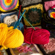 Granny squares — Stock Photo