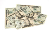 Us tjugo dollar sedlar — Stockfoto