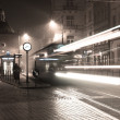 Stock Photo: Tram - long exposure time