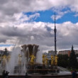 Peoples Friendship Fountain, Moscow, timelapse — Stock Video