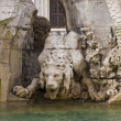 Stock Photo: Element of rome fountain, lion