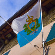 Flag of San Marino on wall background — Stock Photo