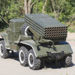 Grad multiple-launch rocket system, museum of military equipment - Stock Photo