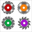 Stock Vector: Circular saw blade four