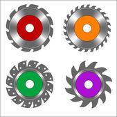 Circular saw blade four — Stock Vector