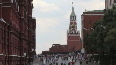 Moscow Kremlin and Lenin Mausoleum — Stock Video