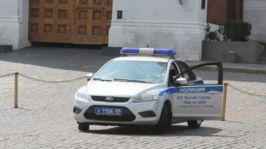 Police Car at Red Square — Stock Video