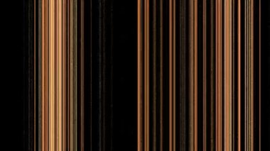 Vertical Orange Gold Lines on Black — Stock Video