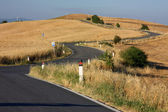 Tuscan road — Stock Photo