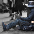Cowboy of the street — Stock Photo