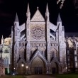 Westminster abbey illuminated by night — стоковое фото #13261158