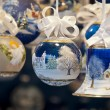 Stock Photo: Decorated christmas balls and bell