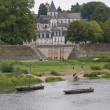 Church on the Loire river — Stock Photo
