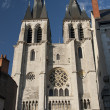 Facade of saint nicolas, in blois — Stock Photo