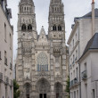 The facade of saint gatien in tours — Stock Photo