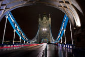 On the tower bridge by night — Stock Photo