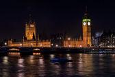 Big ben e o parlamento por noite — Foto Stock