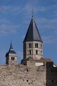 Torres de la abadía de cluny — Foto de Stock