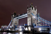 Tower bridge illuminated — Stock Photo