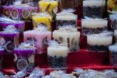 украшенные свечи — Стоковое фото