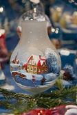 Zdobené vánoční svícen — Stock fotografie