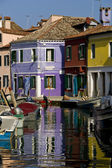 Tipical view in Burano — Stock Photo