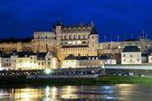 Chateau d'amboise por noite — Foto Stock