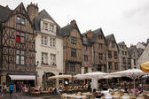 The medieval square: place plumereau in the vieux tours — Stock fotografie