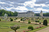 The garden of the chateau of chenonceau — Stock Photo