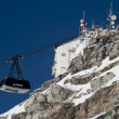 Cableway to the Plateau Rosa - Stock Photo