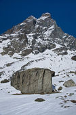 Rock under the Matterhorn — Stock fotografie